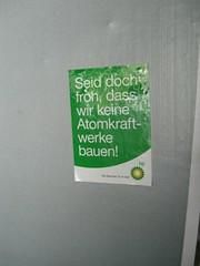 Mal was Positives: (mkorsakov) Tags: city streetart sticker bp mnster aufkleber akw atomkraft golfvonmexiko lpest