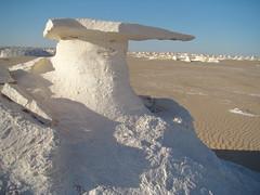 Yardang de techo plano - White Desert (Egipto) - 1105 (Banco de I