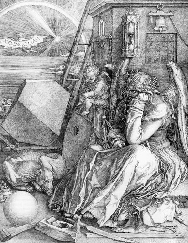 Melancholia, 1514, Albrecht Dürer, Engraving