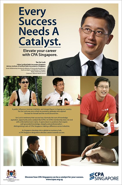 ICPAS advertising campaign featuring Mr Teo Ser Luck