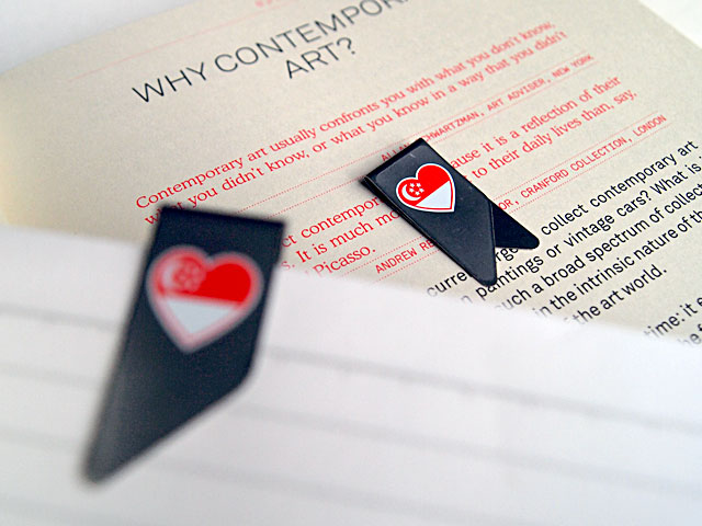 Singapore Heart Flag Book Clip by Casey Chen