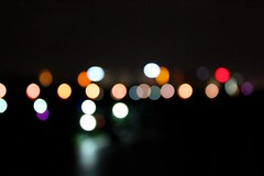 Focus? Focus? Who needs Focus? (always_a_rhythm) Tags: city light color night dark long exposure shot spots shining skape