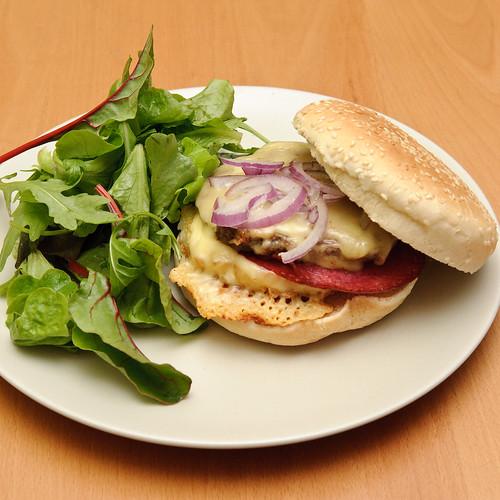 Raclette cheese hamburger