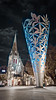 Giant metal ice cream cone (LoganGorilla) Tags: christchurch night lumix cathedral chalice gf1 714mm seenonflickr