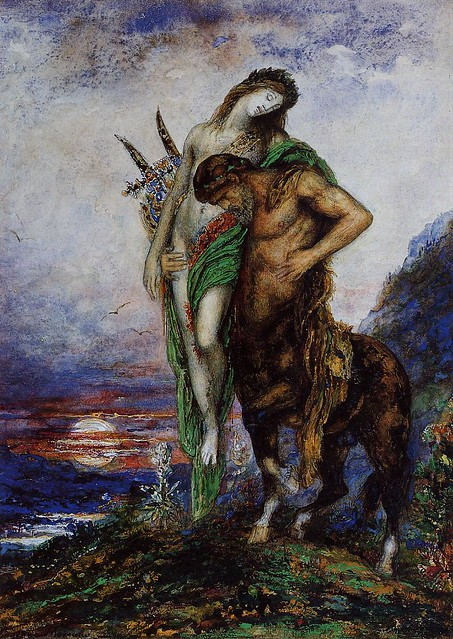 A Dead Poet Being Carried By A Centaur