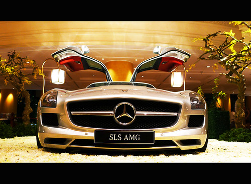 Front Explore #109 -  Sept. 26, 2010  This MB SLS AMG was on display @ the lobby of the Makati Shangri-la Hotel. I