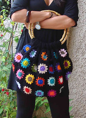 New colorful bag! (Mundo a cores) Tags: bag squares crochet sunburst granny mala