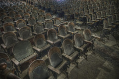 """Empty Seats"" (Frank C. Grace (Trig Photography)) Tags: abandoned dark theater theatre pentax empty newengland spooky seats hdr orpheum urbex k7 newbedford photomatix"