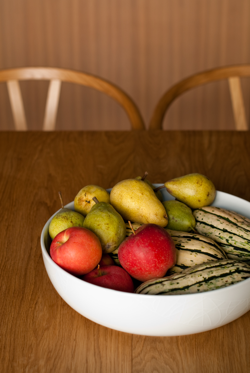 Bartlett Pears, Delicata Squash, and Royal Gala Apples