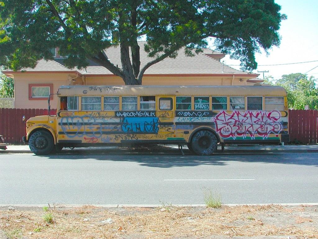 KAVA, PI, TFN, Graffiti, Street Art, Oakland, Bus, Truck