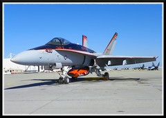 Commodore's Jet - VFA-94 (Dusty_73) Tags: world orange hot bird station airplane fighter aircraft aviation military air united famous navy attack jet shit commodore hornet states boeing f18 douglas naval mighty tailed cag mcdonnell lemoore vfa94 f18c shrikes shwfots