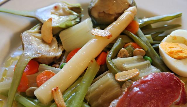 Menestra de verduras navarras en el Restaurante San Ignacio
