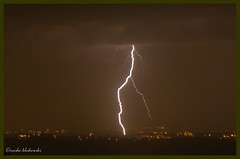 -  lightning strike Ashdod (moshek70) Tags: winter weather clouds israel jerusalem   ashdod  cumulonimbus