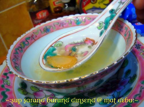 Sup Sarang Burung Ginseng