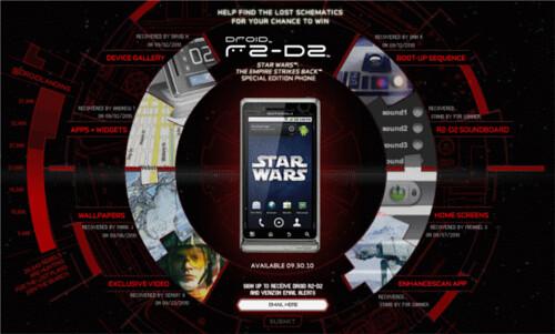 verizon Motorola droid r2-d2