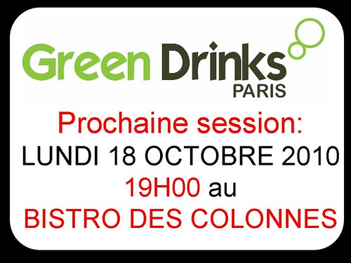 Session GREEN DRINKS PARIS 18102010 COLONNES