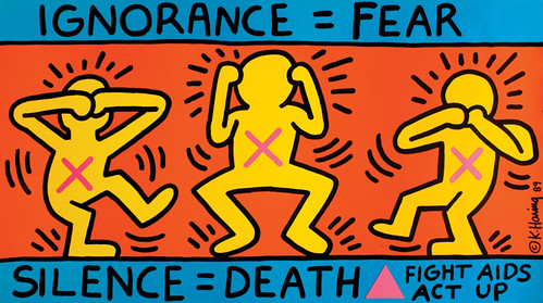 USA_IgnoranceEqualsFear_Keith Haring.1989