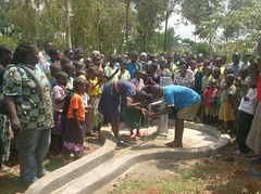 Alpha vocational training home,water flowing during hand over ceremony