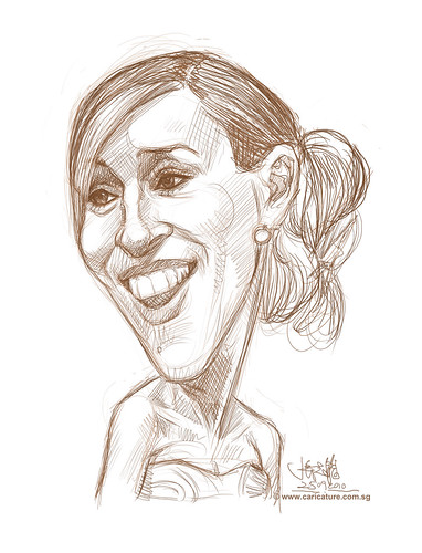 digital caricature of Sarah Jessica Parker - 1