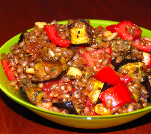 Wheatberry pilaf