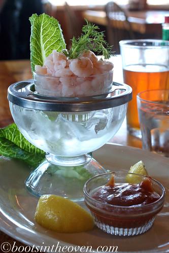 Shrimp cocktail with Oregon pink shrimp