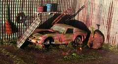 Abandoned Dream: Diorama (Kelvin64) Tags: art cars car toy toys artwork model artist artistic models arts ferrari hobby 124 artists gto hobbies 1962 diorama 250 drybrush artworks dioramas pastime gtos ferraris burago drybrushing pastimes 250s drybrushed 124s buragos