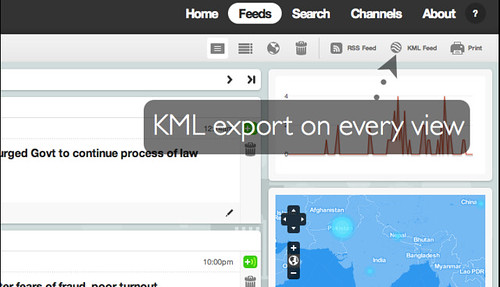 KML export button
