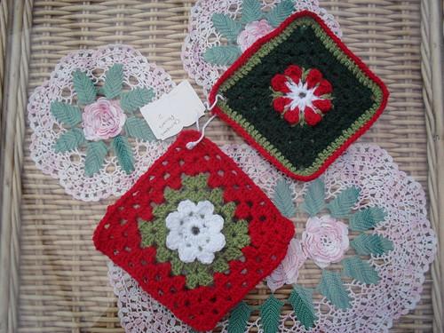 Christmas Flower Squares!