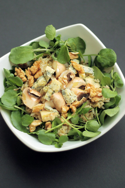Chestnut mushrooms, Blue Cheese and Watercress