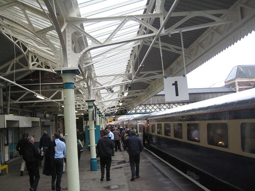 Ryder Cup Charter Train arrives at Newport Station