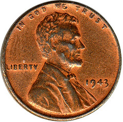 Odd 1943 Lincoln Cent obverse