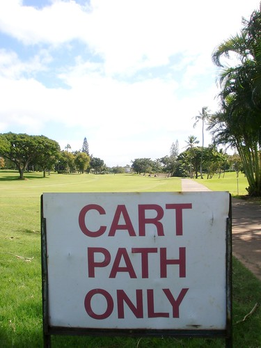 cart path only