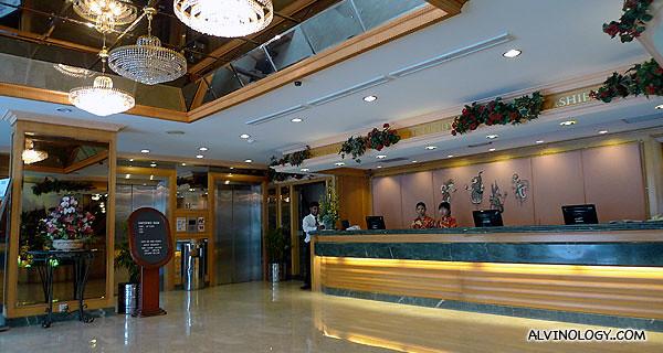 Hotel Malaysia's lobby - where I stayed