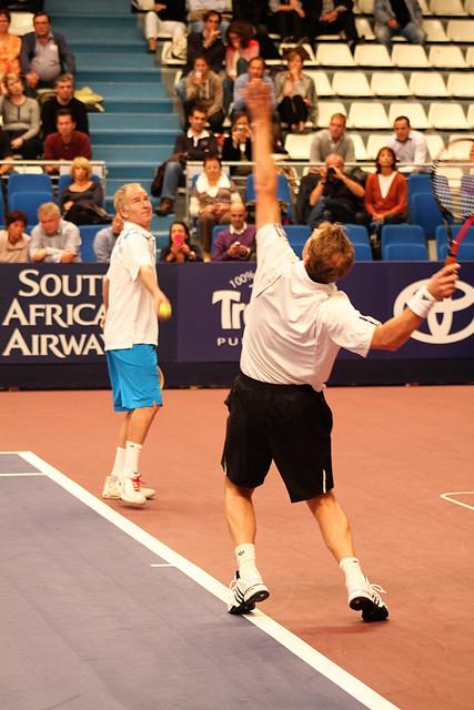 Stefan Edberg and John McEnroe