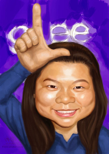 Glee-themed caricature - 2 small