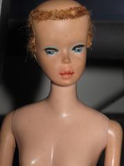 Before: Scary number #5/6 ponytail (Elizabeth AEOOAK Dolls) Tags: ooak restoration reroot vintagebarbie