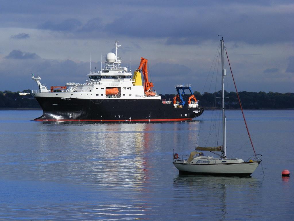 James Cook arriving in Southampton Docks