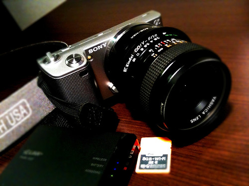 NEX-5 with old YASHICA Lenz