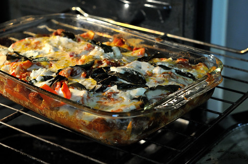 Eggplant and Pepper Lasagna