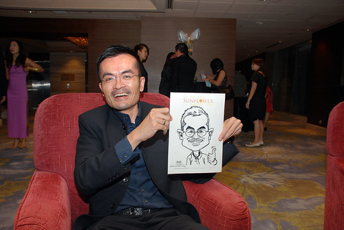 Caricature live sketching for The DPH Sunflower Ball 2010 -3