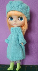 Blythe oversize frock coat and beret