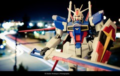 Impulse (shakerk) Tags: light motion blur anime car night photography exposure slow bokeh explore trail sword shield gundam asuka mecha impulse gundamseeddestiny shinn zaft zgmfx56simpulse