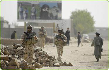 Australian troops on duty in Afghanistan, 2008