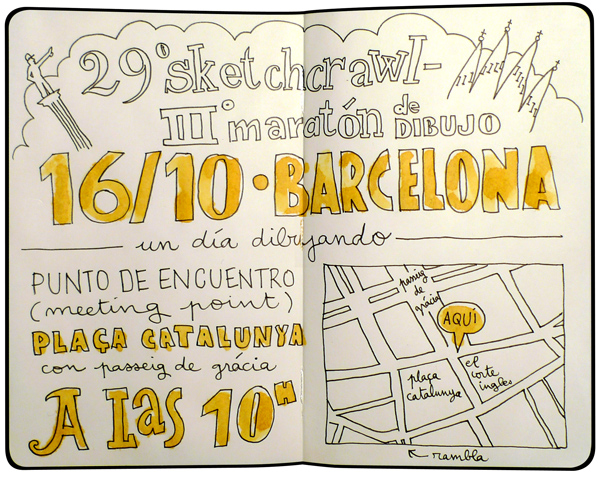 29th sketchcrawl in barcelona