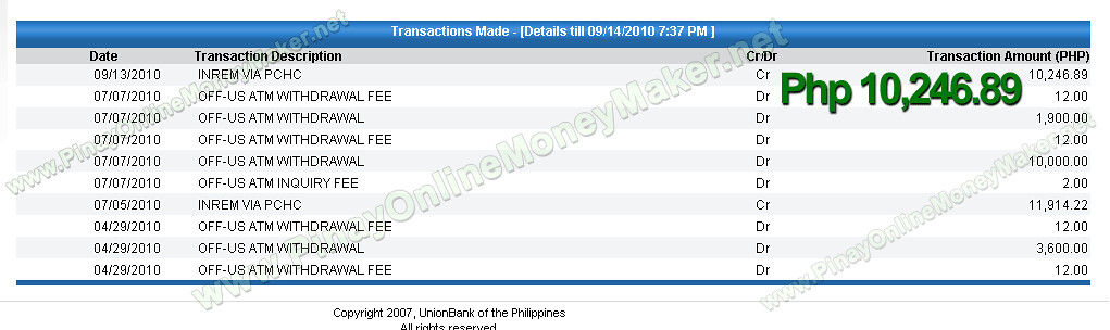 Money already on my Unionbank EON Account - PinayOnlineMoneyMaker.net