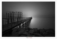 As Far As The Horizon Can Go (Damon | Photography) Tags: bw white seascape black monochrome landscape mono nikon horizon go sigma can arabic arab kuwait mm polarizer damon 77 far circular 2010 circularpolarizer hoya q8 the clp sigma1020mm 77mm d90 as flickrduel nikond90