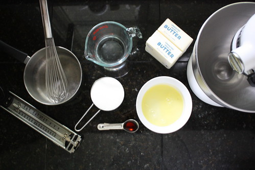 Ingredients for meringue buttercream