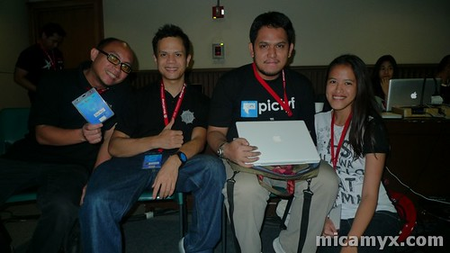 With the 'geeks': Pau, Drew, Eric and Me :P