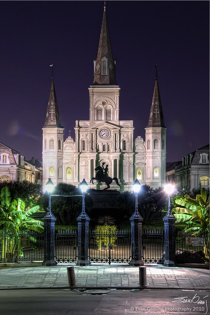 St Louis Catherdral and Jackson Square