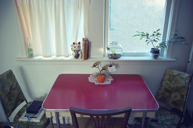 kitchen table.